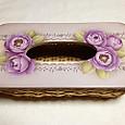 紫バラのティッシュボックス